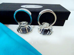 diamonds GIRL'S BEST FRIEND glass crystal napkin ring holders x4 Kitchener / Waterloo Kitchener Area image 6