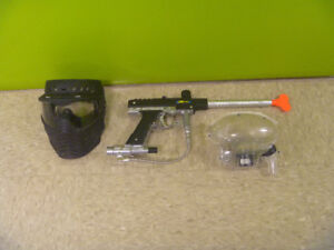 Paint Ball Mask, Gun And Hopper