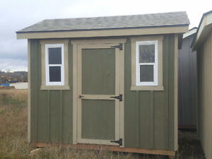 8'x10' Stained Board & Batten Garden Shed