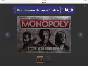 WALKING DEAD MONOPOLY BOARD GAME