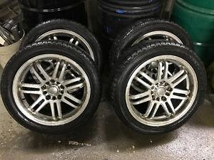 winter tires on Voxx Legra 17 inch rims Regina Regina Area image 2