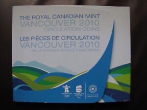 Vancouver 2010 Olympic coins collection