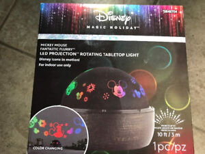 New $20 Disney LED projection rotating tabletop light motion