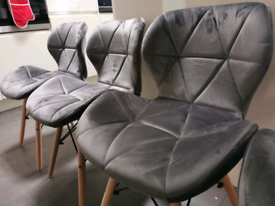 4 dining chairs, brand new