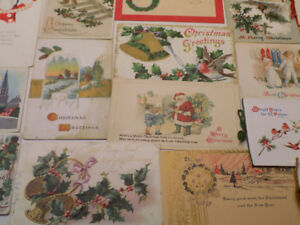 TONS ANTIQUE POSTCARDS - Christmas, Valentine's, Thanksgiving+++