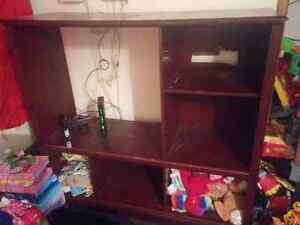 Wall unit tv stand to give away.