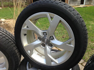 Audi rims and winter tire package