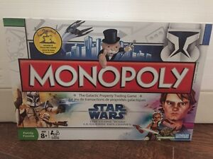 Star Wars The Clone Wars monopoly board game