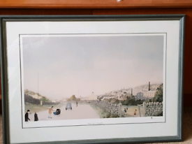 WAIT FOR ME BY G W BIRKS LTD NUMBERED PRINT LOWRY STYLE