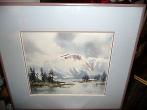 "Winter Mountain,George Alig ""November Chill"" Original Watercolor"