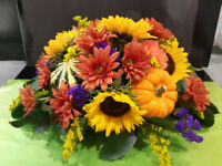 Fall flower arranging class-Make and Take