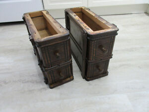 Singer treadle sewing drawers with holders