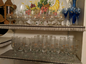 Vintage 1988 Winter Olympics Glasses - FULL SET / COLLECTION