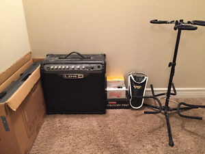 Pedals, Amp, Patch Cords, Guitar Stand