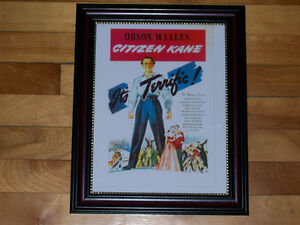 Citizen Kane - Orson Welles Classic movie - Framed Print!