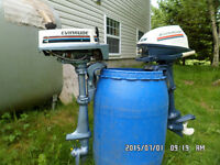 2 older evinrude outboards annapolis valley