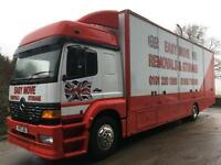 2001 Mercedes-Benz Atego 1823 double sleeper 30ft removal box side doors