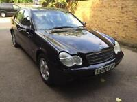 2002 Mercedes-Benz C 180, AUTOMATIC, VERY CLEAN, 1 OWNERS, FSH. BLACK,
