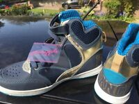 Brand new with tags Pineapple Dance Hightop trainers size 3 blue with 2 set laces