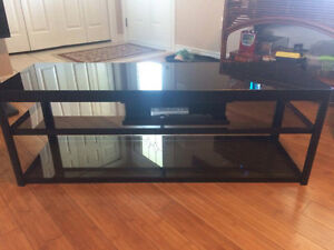 Customized Glass Black Coffee Table