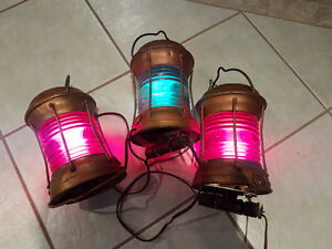 Nautical Mast Lights From Eaton's Yacht - Over 50 years old.