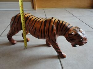 Tiger statue figurine leather decorative accent London Ontario image 10