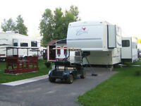 roulotte a sellette (fifth wheel) de marque Cardinal