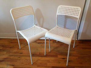 2 Chaises ADDE Ikea blanches