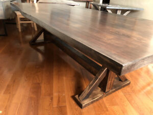 """NEW  """"LIVE  EDGE""""  RUSTIC  HARVEST  TABLE"""