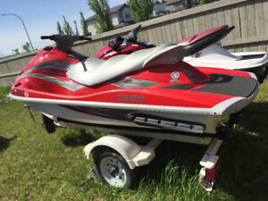 05 Yamaha waverunner deluxe vx110 sea-doo with double trailer