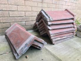 15 Reclaimed roof Ridge tiles