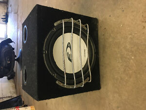 12 inch Alpine subwoofer and amplifier combo