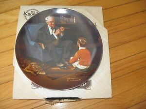 "Norman Rockwell Collector Plate ""The Tycoon"" Cambridge Kitchener Area image 1"