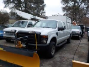 2008 FORD F250 CREW PLOW SERVICE BOX
