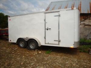 21 Ft Storage Trailer and 12 ft Construction Trailer