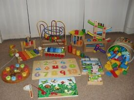 Bundle of wooden toys