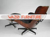 eames lounge chair+ottoman, chaise lounge, lazy boy