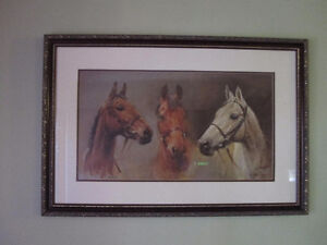 racing WE THREE KINGS FRAMED print, top race horses
