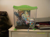 Fish Tank With Filter + Some Supplies