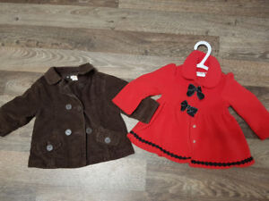 6-12 and 12 month light jackets
