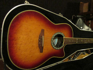 Ovation Celebrity Model Guitar, acoustic - electric,+ small amp.