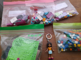 Lego pop star stage plus keychain and misc.pieces