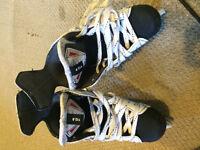 Kids hockey skates size 12 bearly used