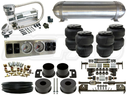"Complete Air Ride Suspension Kit - 1964-1969 Lincoln Continental 1/4"" Level 1"