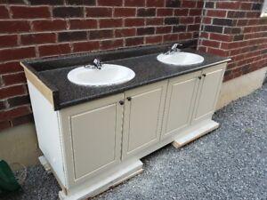 Price Drop - Double Bathroom Vanity - 74 inches