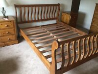 Solid wood double bed framw