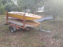 """2 """"Delta"""" timber dinghies plus boat trailer. Benalla Benalla Area Preview"""