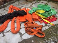 Job lot of web and round lifting slings