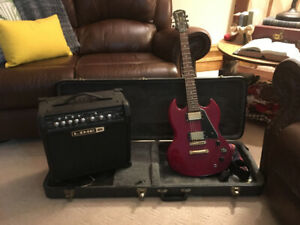Epiphone SG with line6 amp