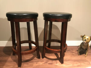 """Leather like  top bar stools - 25"""" tall"""